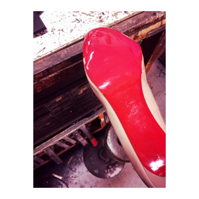 Your shoes are ready to wear with new red soles!